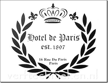 Shabby Chic sjabloon Hotel de Paris