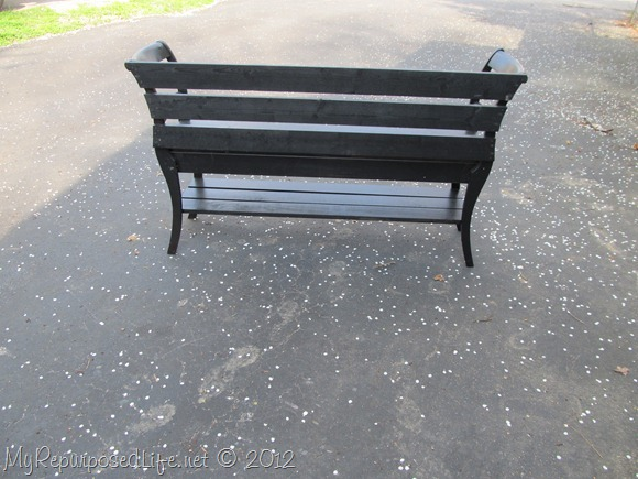 back of double chair bench MyRepurposedLife.com