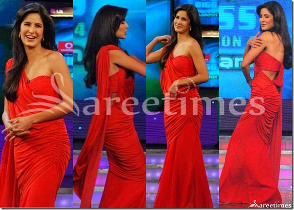 Katrina_Kaif_Red_Saree