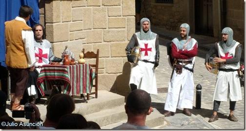 Representación de la leyenda de la Virgen de Jerusalem - Artajona - Navarra