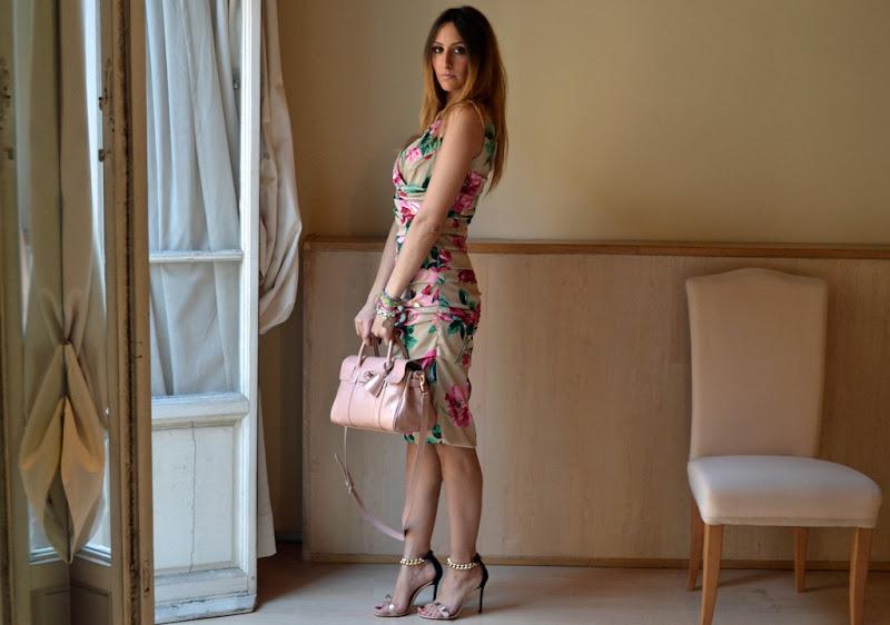 Dolce & Gabbana Dress, Mulberry Bag, Elisabetta Franchi Celyn B Shoes