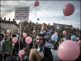 Manifestação contra casamento gay Lyon França
