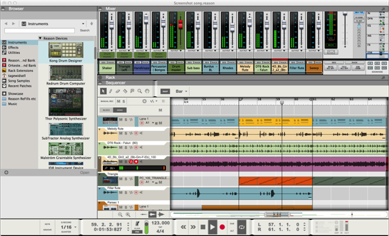 R8 screenshot mixer sequencer