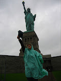 At the Statue on the rain