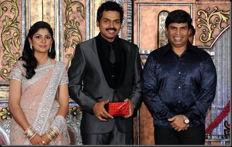 karthi ranjini wedding reception stills0-22
