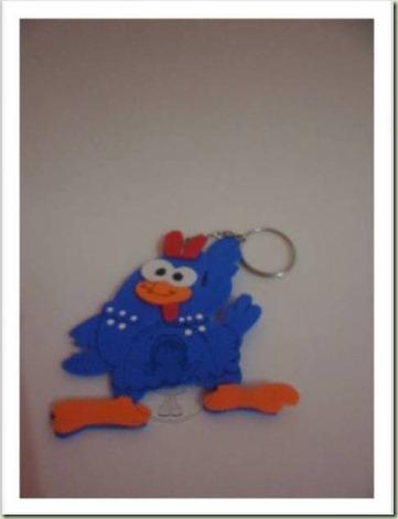 Chaveiro galinha pintadinha 6 cm