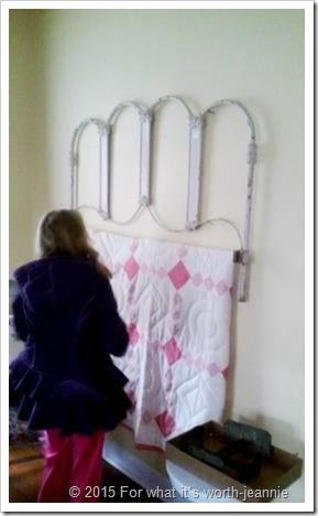 headboard quilt rack