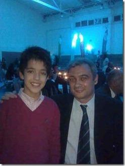 João Vasco, então com 12 anos, após ter ganho o PEÃO DE OURO na Galiza, entre 118 participantes, foi homenageado pelo Ministério da Educação.