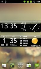 Descargar Smoked Glass Weather Clock para celulares gratis