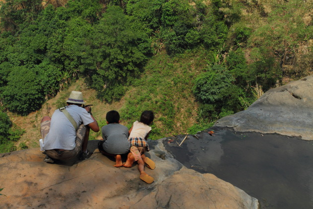 The Daredevils at Tad Luang Waterfall, Bolavan Plateau, Laos