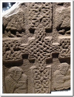Stonework from Kirriemuir church demolished in 1787. Old stone work with Gaelic symbol's.
