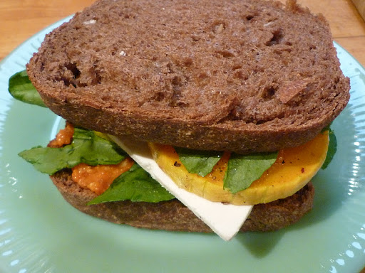 Roasted Butternut Squash & Ricotta Salata Sandwich