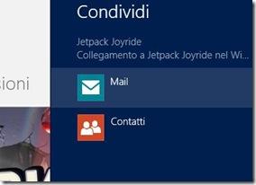 Windows 8 Scheda Condividi