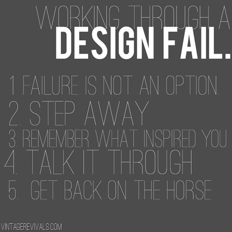 Working Through A Design Fail