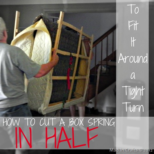 How To Cut A Box Spring in Half