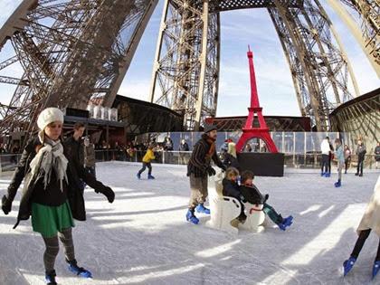Pista de patinação da Torre Eiffel