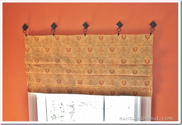 No-sew faux roman blind