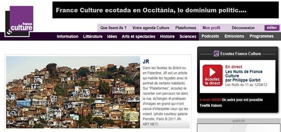 France Culture favela culturala