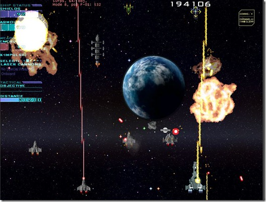 Star Fleet X bomber freeware game (4)