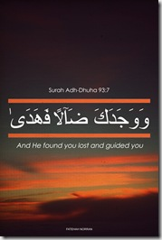 and he found you and guided you