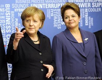 Dilma e Angela Merkel Foto Fabian Bimmer Reuters