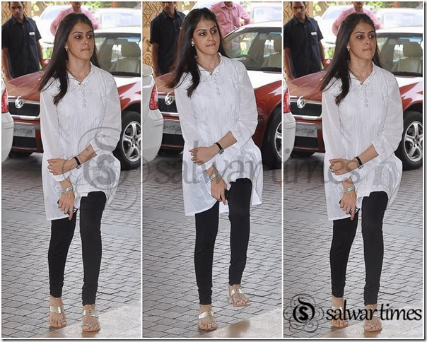 Genelia_White_Short_Kurta