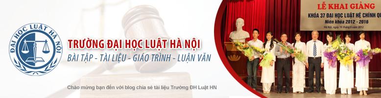 Thư viện tài liệu trường ĐH Luật Hà Nội