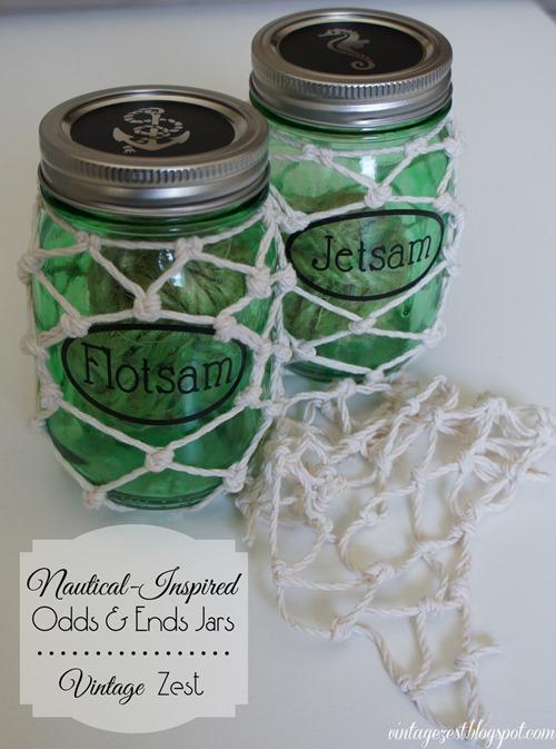 cheap craft diy nautical theme storage mason jars