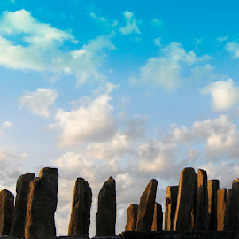 The Splendour by Ade Irgha - Buildings & Architecture Statues & Monuments ( #stones, #clouds, #menhirs, #monuments, #sky )