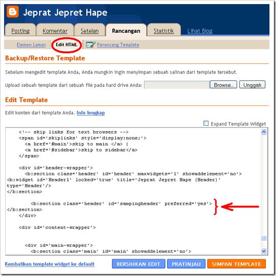 kode HTML header3