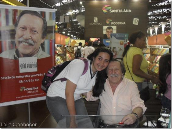 Eu e o fofo do Pedro Bandeira! *-*