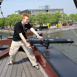 shooting canons of the amsterdam in Amsterdam, Noord Holland, Netherlands