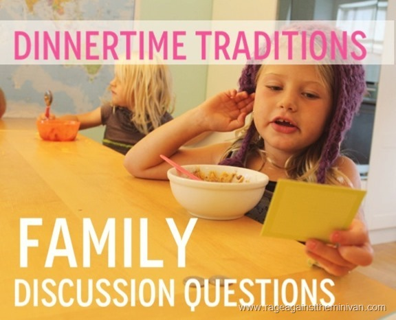 table talk: a great way to inspire fun and interesting dinnertime conversation with kids
