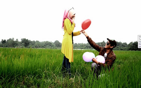 outdoor photoshoot sawah padi