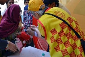 Delhi Camp Baby Vaccinated
