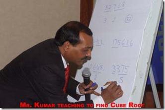 Magical Methods Training - Mr Pradeep Kumar teaching to find cube roots