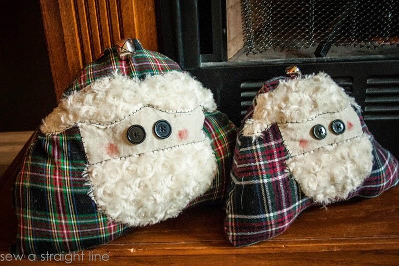 santa face pillows sew a straight line-1-2