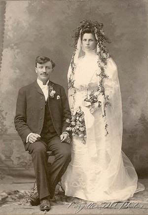 Growing Greens Girl Wedding Unknown Photog DL Antiques