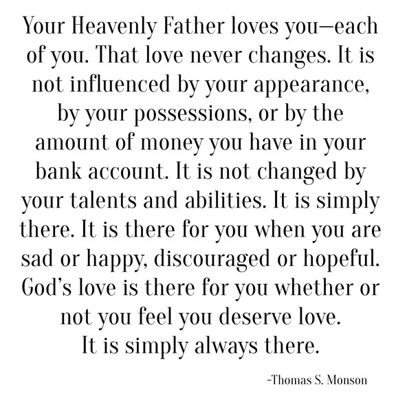 god's love -- monson