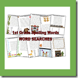 1st Grade spelling Word Searche