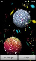 Screenshot of Summer Disco Ball LWP