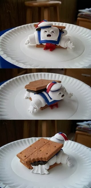 Smore biscuit with marshmallow man