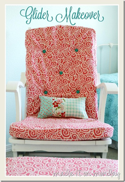 The Monday Blog: Glider Rocking Chair Makeover {Tutorial}