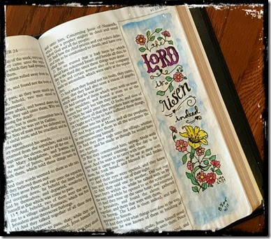 He is Risen Bible Journaling