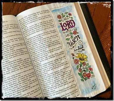 He is Risen Bible Journaling