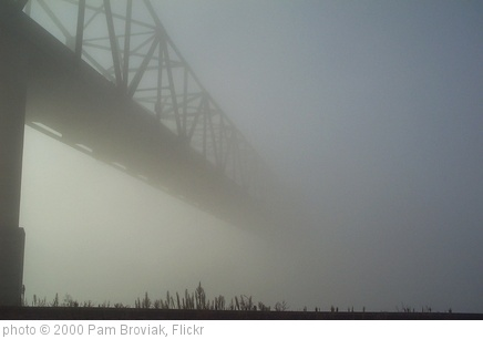 'Old Shippingsport Bridge in Fog' photo (c) 2000, Pam Broviak - license: http://creativecommons.org/licenses/by-sa/2.0/