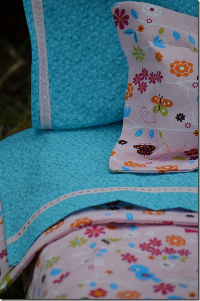skirt detail, doll bed, front flowers 038