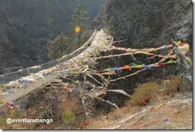 Bandeiras de oração ponte