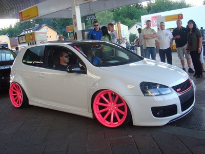 Jantes Golf 5 Gti Golf 5 Gti Blanc Jantes Rose