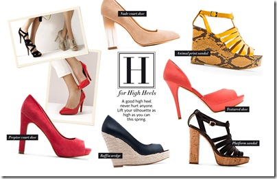 H for high heels